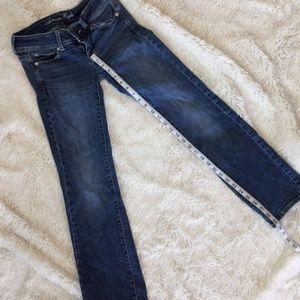 American Eagle Stretch Slim Boot Dark Wash Jean